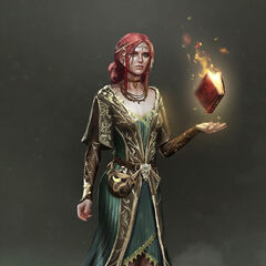 Concept art of Triss in her alternative outfit DLC for <i>The Witcher 3</i>