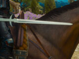 Toussaint knight's steel sword
