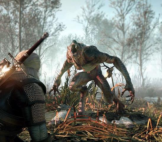 File:Tw3 e3 2014 screenshot - Geralt vs werewolf.png