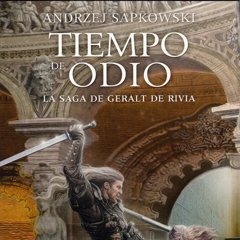 Fighting Geralt on Thanedd Isle, Spanish exclusive cover of the <i>Time of Contempt</i>.