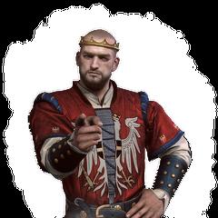 Král <b>Radovid V.</b> v deníku hry Zaklínač 3: Divoký hon