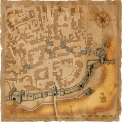 Map of Vizima's Trade Quarter