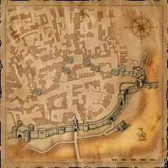 Mappa del Quartiere Mercantile di Vizima