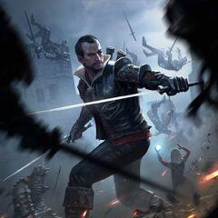 Gwent card Lambert: Swordmaster