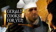 The Witcher 3 Wild Hunt - Geralt cooks for Yennefer (Deleted Kaer Morhen scene)