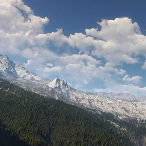 Velen mountains in <i>The Witcher 3</i>