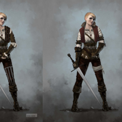 Concept art for Ciri in <i>The Witcher 3</i>