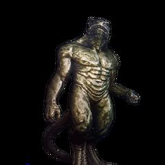 Statue of vran warrior specimen in Loc Muinne