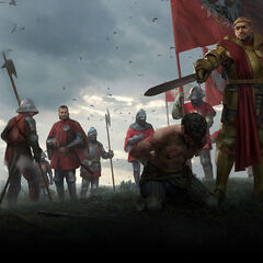 Overseeing defeated Aedirnians