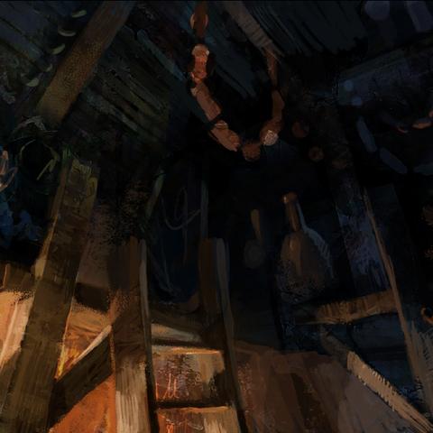 Locanda dell'Orso Peloso di giorno - concept art