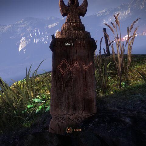 Moira's grave