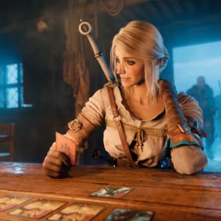 Цірілла у трейлері до гри «Гвинт: відьмацька картярська гра»