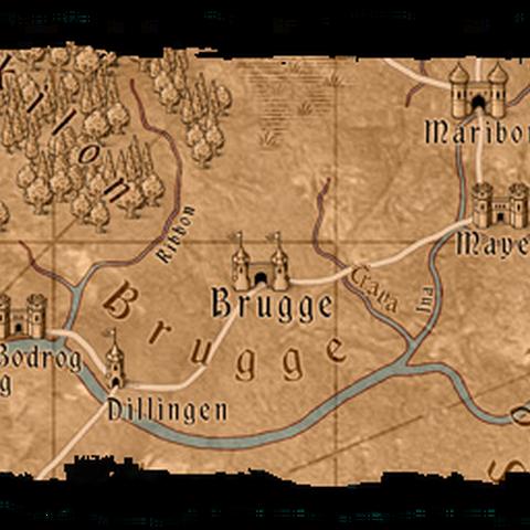 Карта Бругге