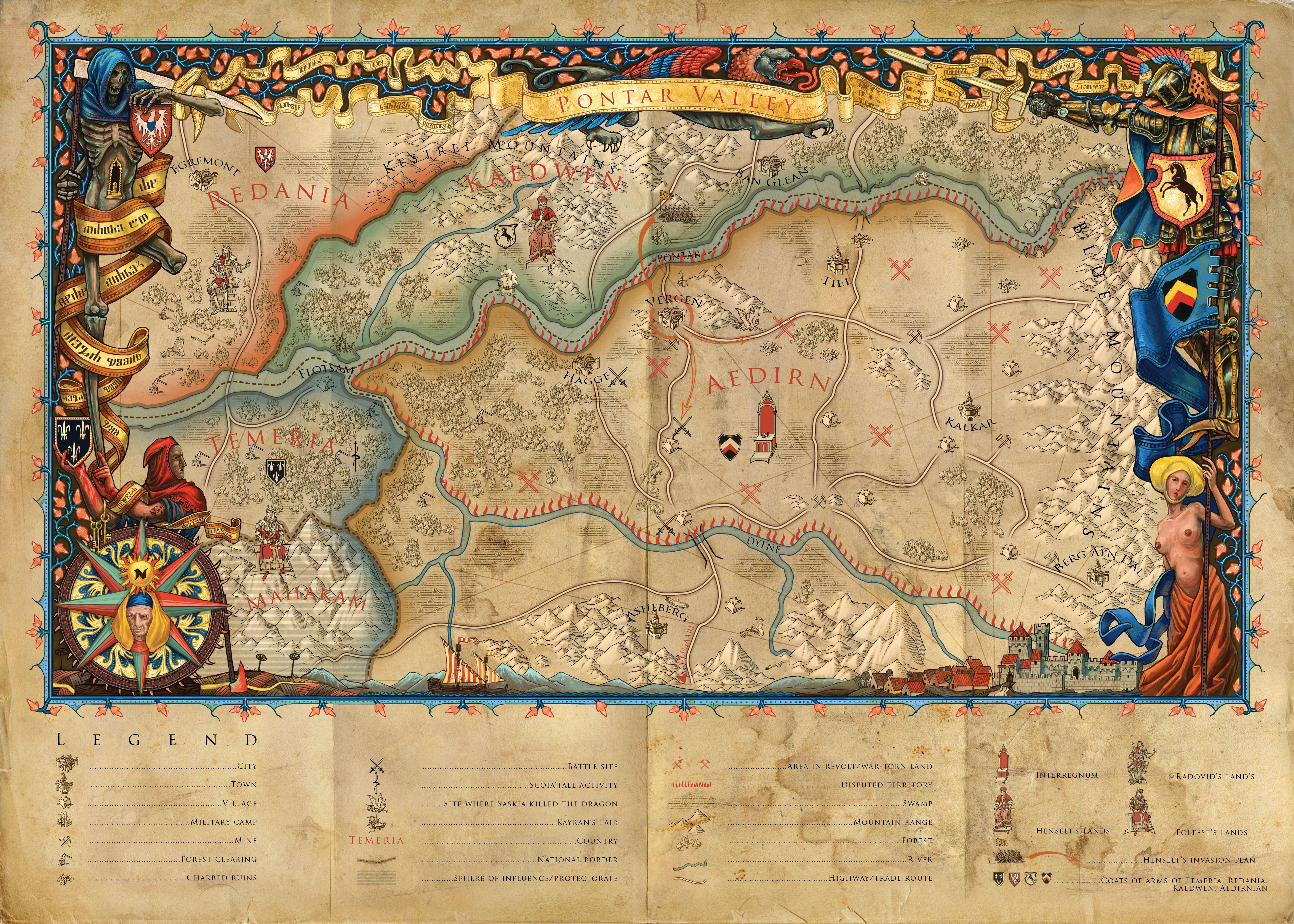 Mappa della Valle del Pontar