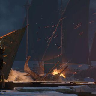 Наґльфар під час битви з флотом Скелліге
