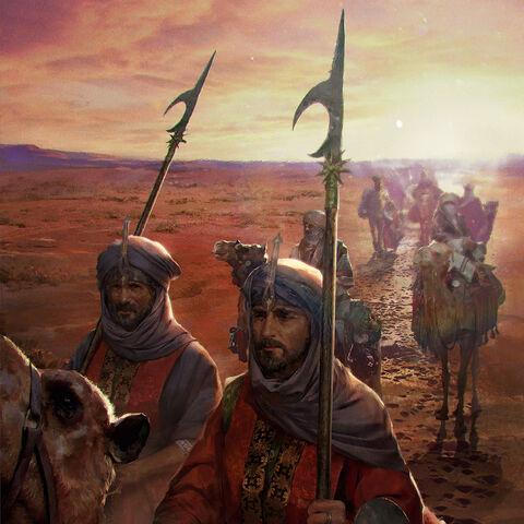 Ofiri caravan crossing a desert