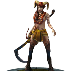 The succubus render in <i>The Witcher Battle Arena</i>
