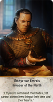 Tw3 gwent card face Emhyr var Emreis Invader of the North