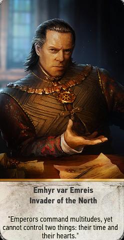 File:Tw3 gwent card face Emhyr var Emreis Invader of the North.png