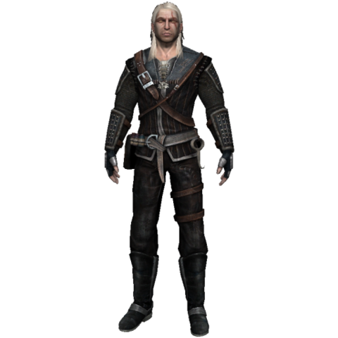 Geralt wearing Raven's armor