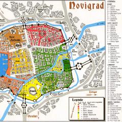 City plan from <i>Wiedźmin: Gra Wyobrazni</i>