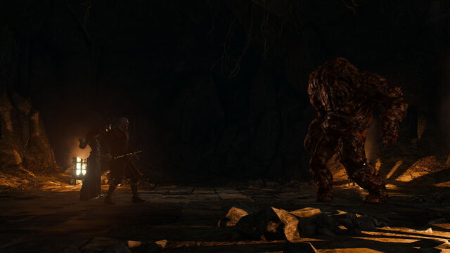 File:Tw3 geralt and yen with earth elemental.jpg