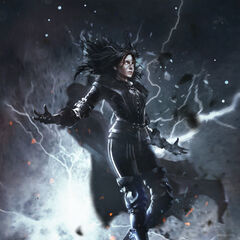 Gwent card art in <i>The Witcher 3</i> and  as <i>Yennefer: Conjurer</i>