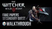 The Witcher 3 Wild Hunt Walkthrough Fake Papers Secondary Quest Guide Gameplay Let's Play
