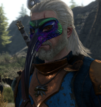 Tw3 bird mask on geralt