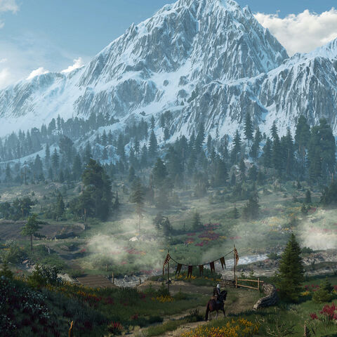 Skellige mountains in <i>The Witcher 3</i>