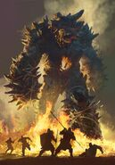 Gwent cardart neutral colossal ifrit