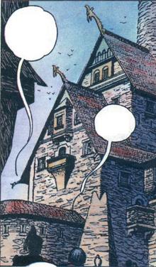 Royal palace in Vizima comics
