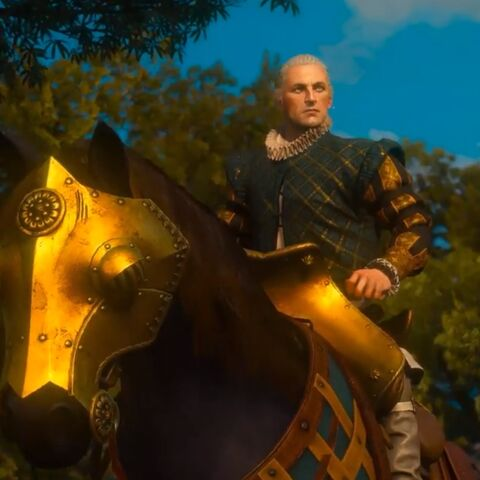 Count Borhis on his mount.