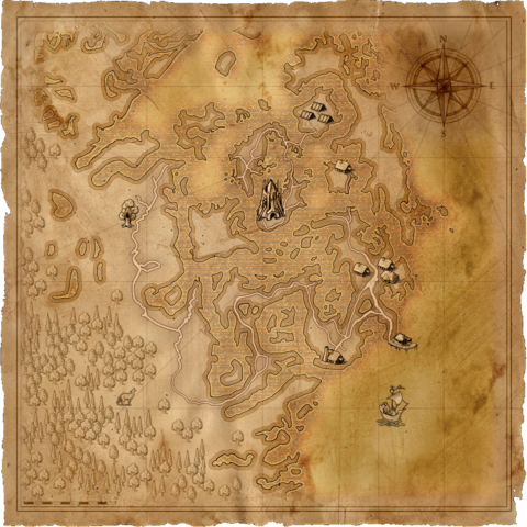 Map to the cave in the Swamp