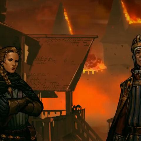 Meve and Demavend preparing to defend Aldersberg