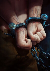 Gwent cardart neutral dimeritium shackles