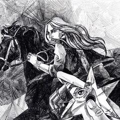 Скеллен кидає оріон у Ціріллу, арт