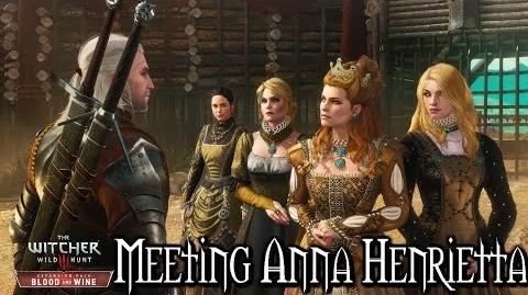 The Witcher 3 Blood and Wine - Meeting Anna Henrietta