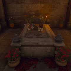 Milton's tomb at <a href=