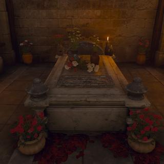 قبر ميلتون في <a class=