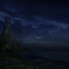 Black Tern Island at night