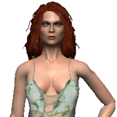 Triss in her nightie in <i>The Witcher</i>