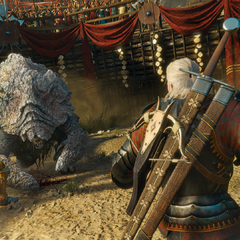 Arena fight vs. Shaelmaar in the  promo screenshot