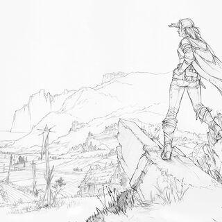 Concept/sketch for Cerys ending