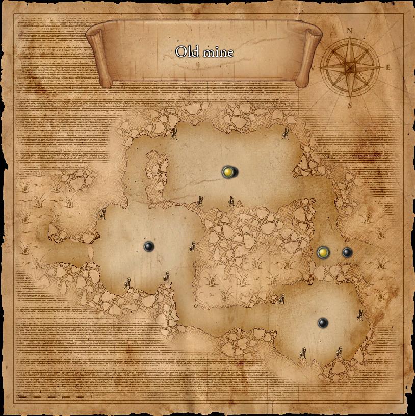 Map Old Mine KM