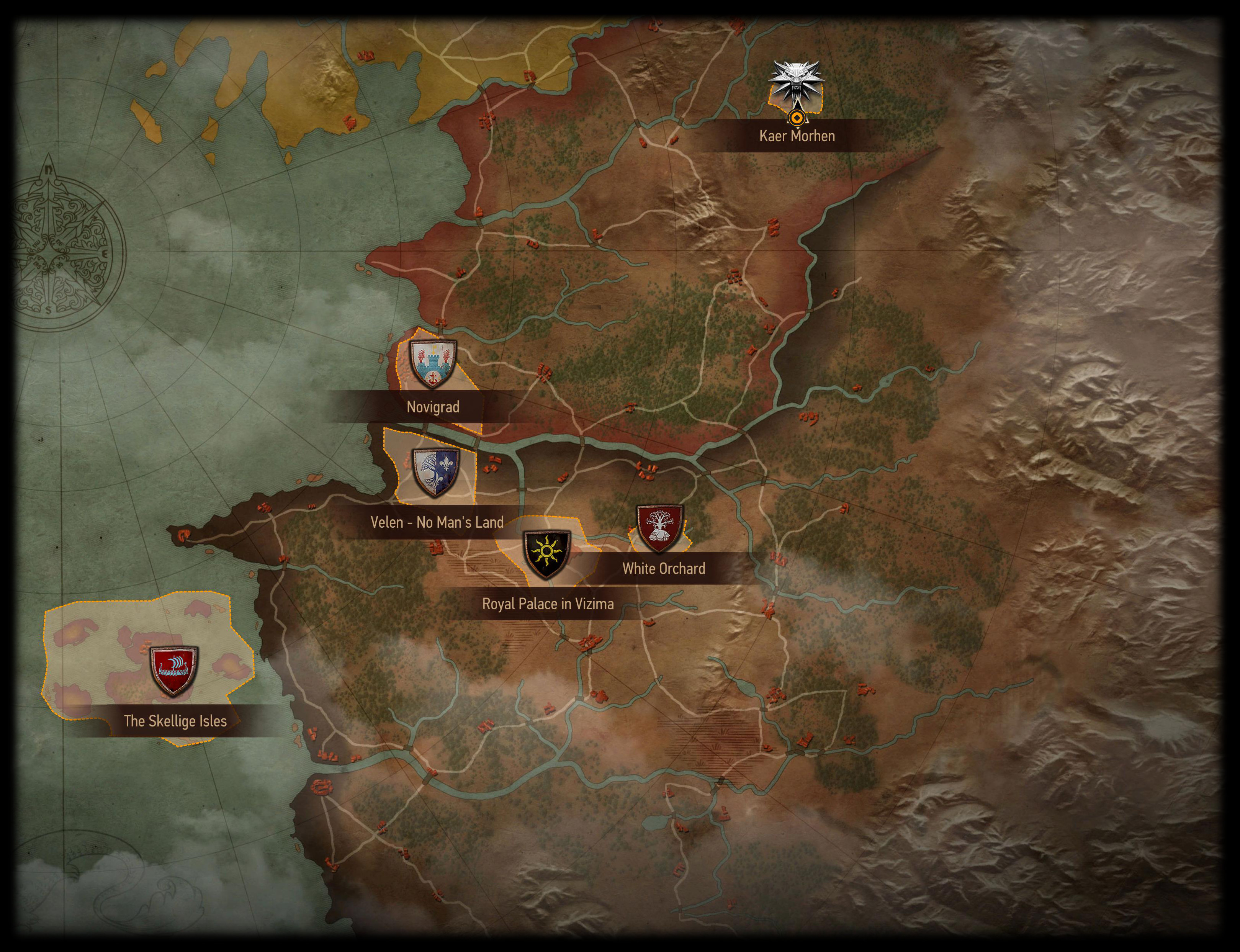 The Witcher 3 locations | Witcher Wiki | Fandom on witcher 3 armor sets, witcher 3 all maps, the witcher map detailed, witcher 3 cave of ruins,