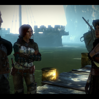 Síle, Triss and Geralt in conversation