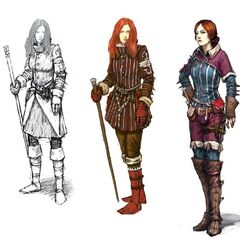 Concept art of Triss for <i>The Witcher 2</i>