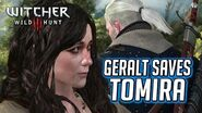 Witcher 3 - Geralt Saves Tomira from the Witch Hunters If Radovid Wins