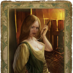 Peasant girl's censored romance card